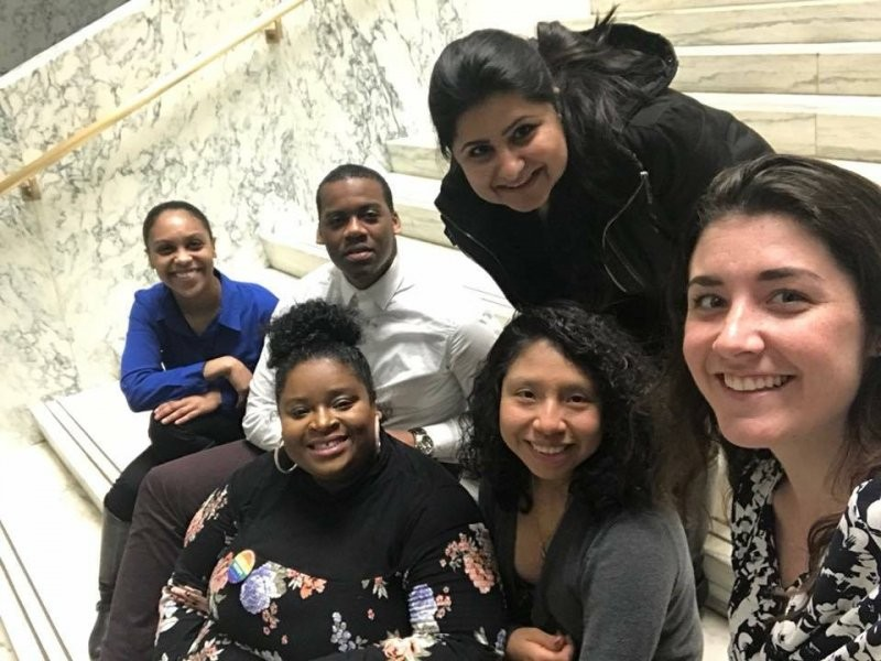 Students and faculty from the Binghamton University Master of Social Work program visit Albany to advocate for policy changes that affect students, social workers and the populations that social workers serve.