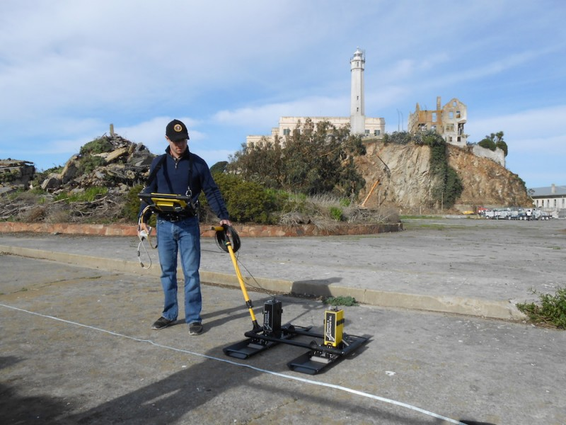 Binghamton University archaeologist Timothy de Smet and colleagues used terrestrial laser scans, ground-penetrating radar data and georectifications (the process of taking old digitized maps and linking them to a coordinate system so that they can be accurately geolocated in 3D space) to locate and assess the historical remains beneath the former recreation yard of the Alcatraz penitentiary.