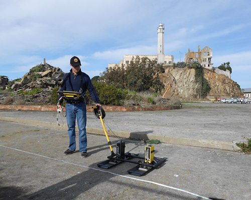 Binghamton University archaeologist Timothy de Smet and colleagues used terrestrial laser scans, ground-penetrating radar data and georectifications (the process of taking old digitized maps and linking them to a coordinate system so that they can be accurately geolocated in 3D space) to locate and assess the historical remains beneath the former recreation yard of the Alcatraz Federal Penitentiary.