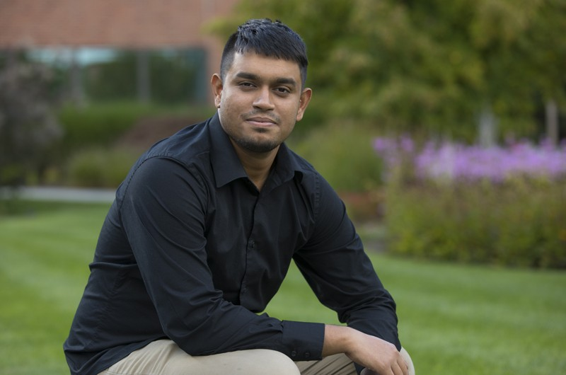 Auruddah Antaneel helped launch a computer literacy program in his native Bangladesh.