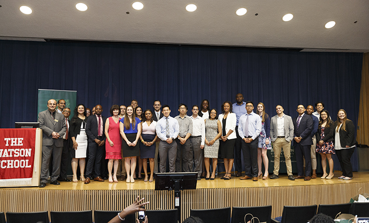 The most recent group of students enrolled in the Executive Heath Systems - Manhattan program.