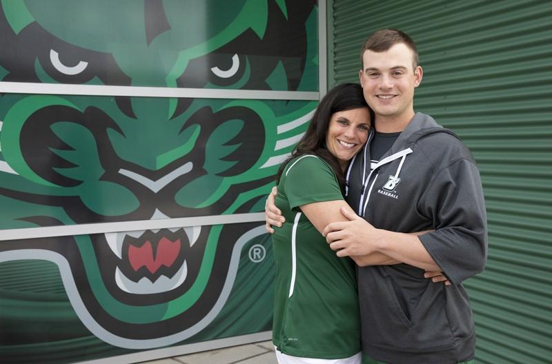 Jennifer Wegmann and son Nick will both receive Binghamton University degrees.