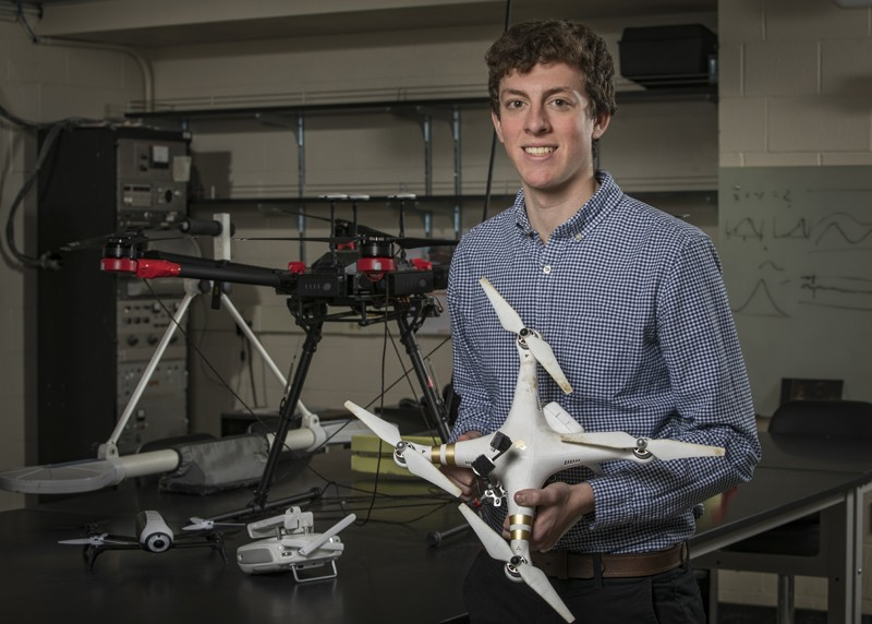 Will Frazer was part of a geology-student team that earned a top prize in the Create the Future technology design competition.