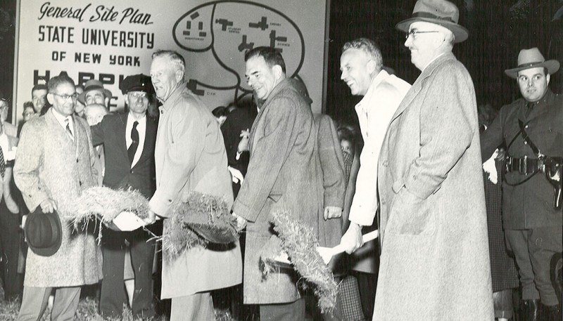 A groundbreaking for the Vestal campus was held in 1954.