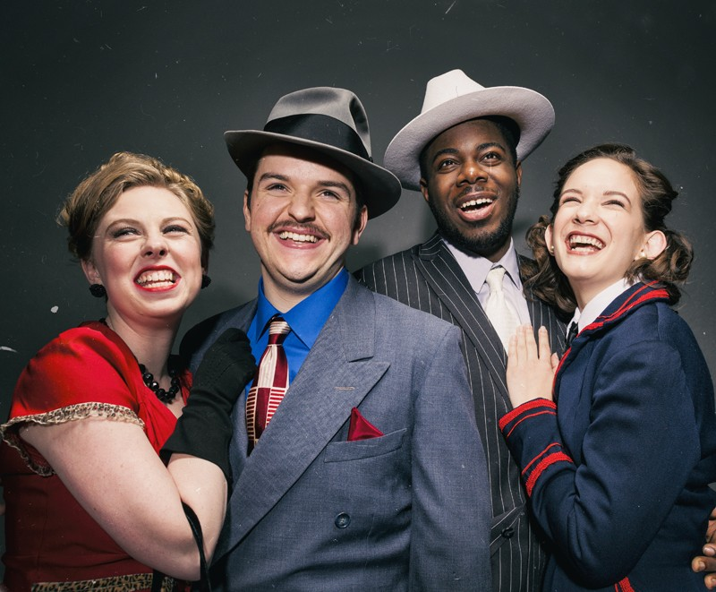 Brenda Darcy, left, Greg DeCola, Robert Edwards and Christine Skorupa star as Miss Adelaide, Nathan Detroit, Sky Masterson and Sarah Brown, respectively, in the Theatre Department's production of
