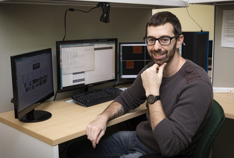 Andrea Papaleo will receive his master's degree in materials science and engineering in May.