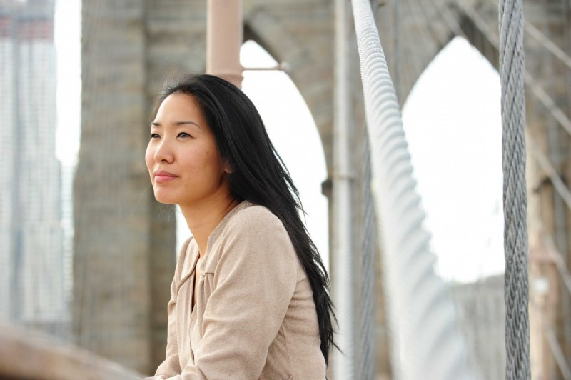 Associate Professor of English Tina Chang, director of the Creative Writing program and poet laureate of Brooklyn.