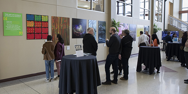 Michael Jacobson's entry took top honors in this year's Art of Science competition, which included an opening reception during Research Days in April.