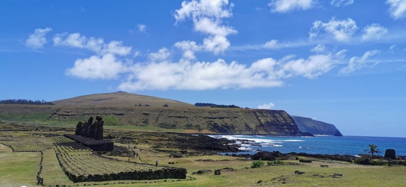 The shoreline of Easter Island (Rapa Nui)