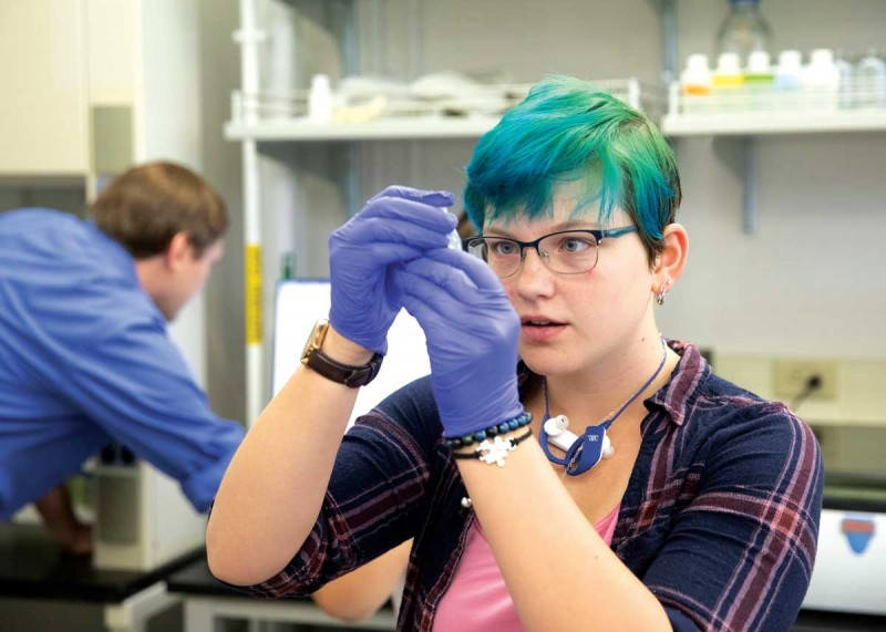 Sophomore Anmei Rupnick is among the 200 sophomores and 300 freshmen in the Freshman Research Immersion program.