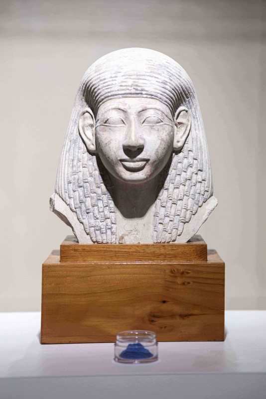 A head of a Ptolemaic ruler from ancient Egypt, part of Doug Braun's