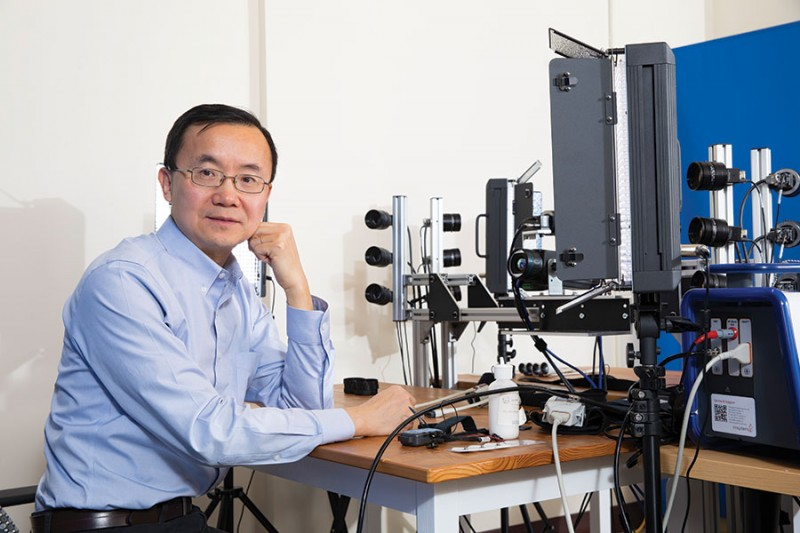 Professor of Computer Science Lijun Yin hopes people will one day conduct interviews virtually with help from his facial modeling research.