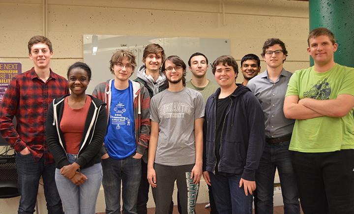 The Binghamton University Mars Rover Team leads.