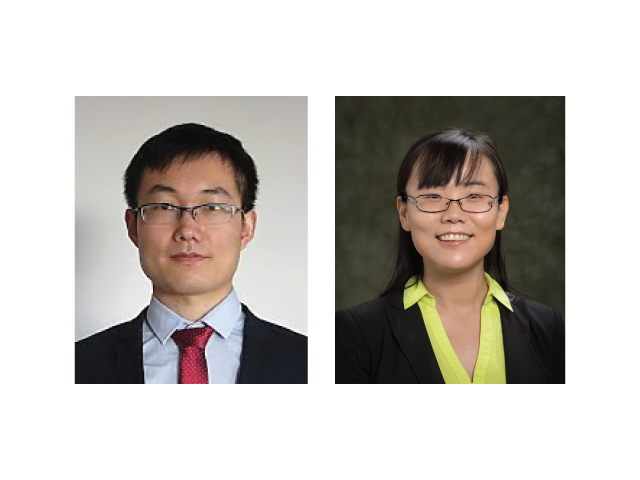 Assistant professor Pu Zhang (left) and assistant professor Kaiyan Yu (right) recently joined the mechanical engineering department.