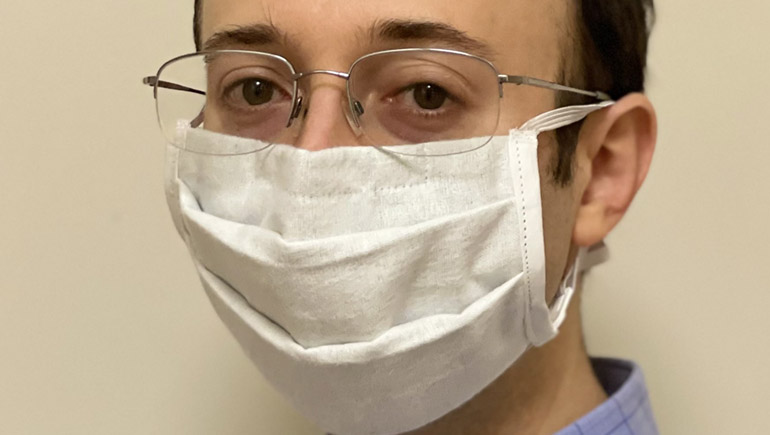 Assistant Professor Scott Schiffres teamed up with Intuitive Surgical to research the most effective materials to use in masks to reduce COVID-19 exposure.