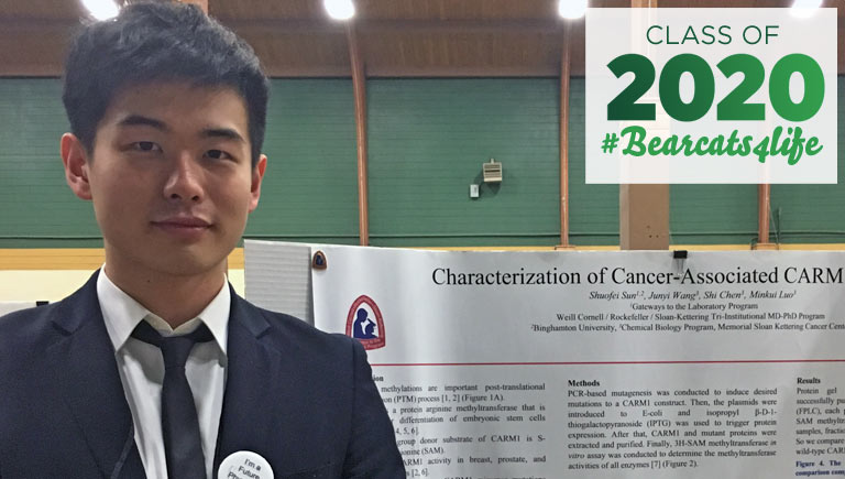 Biomedical engineering grad Shuofei Sun '20 learned how to apply for higher education on his own as a first-generation college student.