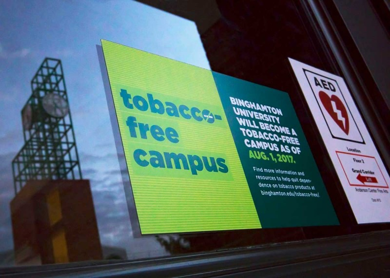Binghamton University will become a tobacco-free campus August 1, 2017.   The Healthy Practices Clinic was established to provide individual tobacco-cessation support services for faculty, staff and students.