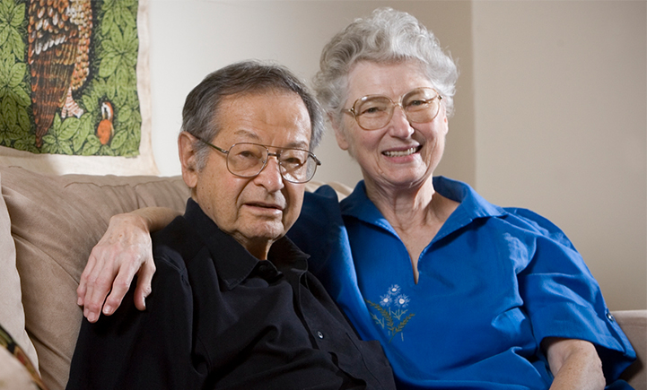 Bernard and Ruth Bass, photographed at their Binghamton home in June 2007.