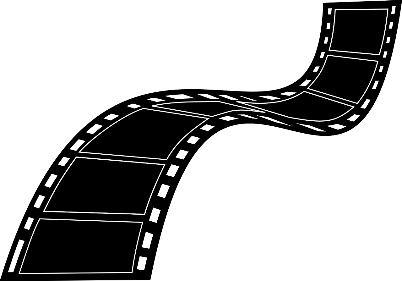 A graphic of a film strip