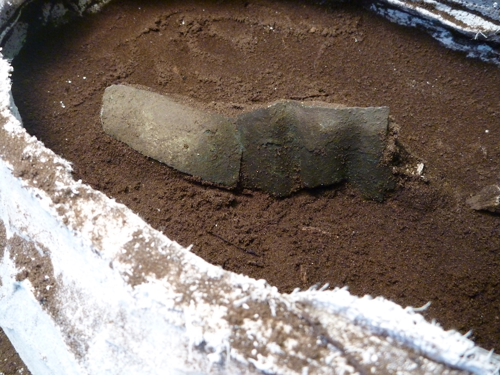Copper band revealed during excavations