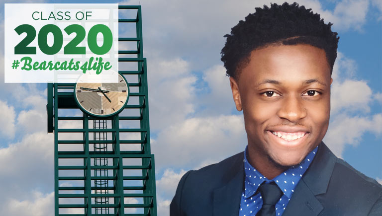 David Oladunjoye earned his bachelor's degree in computer engineering from Binghamton University's Watson School, and he will return in the fall to pursue his master's.
