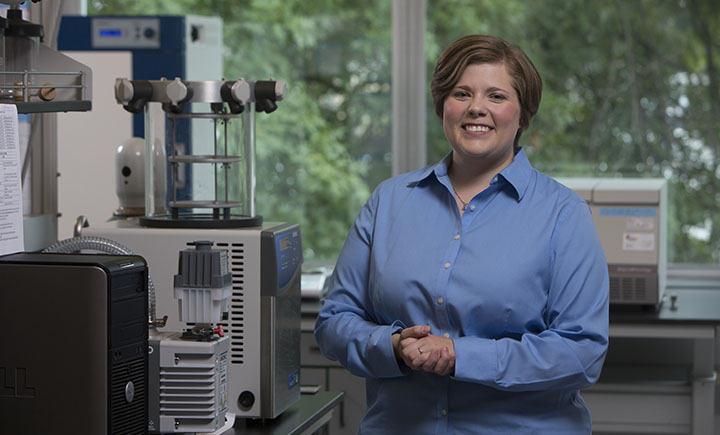 Research assistant professor Amber Doiron from the Biomedical Engineering Department.