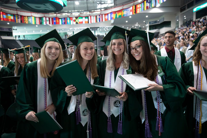 More than 170 students received bachelor's degrees in nursing at the Decker School of Nursing Commencement ceremony May 17.