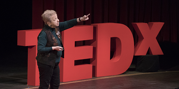 Binghamton University alumna Ellyn Uram Kaschak, who spoke at the Binghamton University TEDx conference in 2017, has made a seven-figure gift to establish the Institute for Social Justice for Women and Girls at the University.