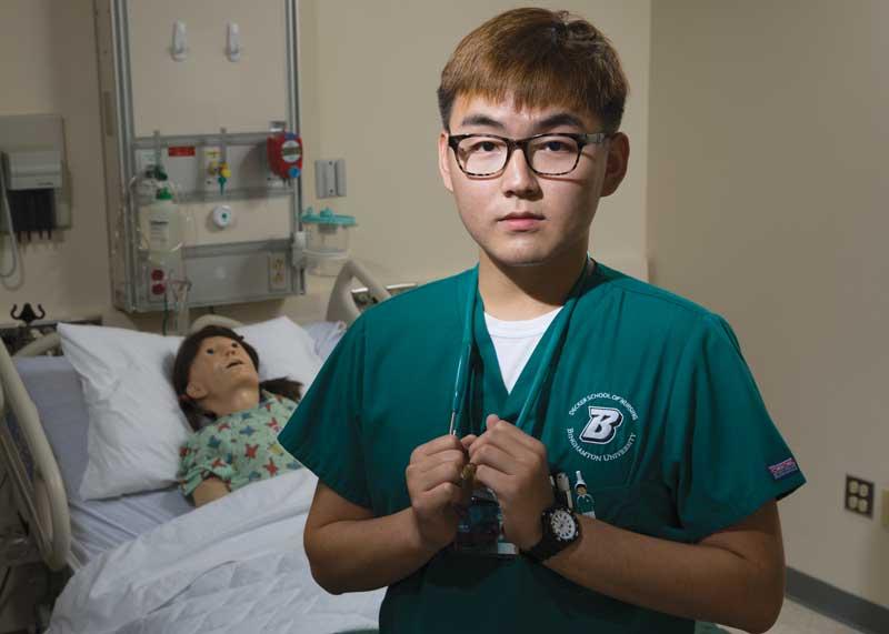 Senior nursing student Jae Moon Chung
