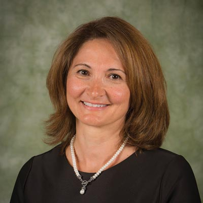 Lina Begdache, PhD '08, assistant professor of health and wellness studies in the Decker School of Nursing at Binghamton University.