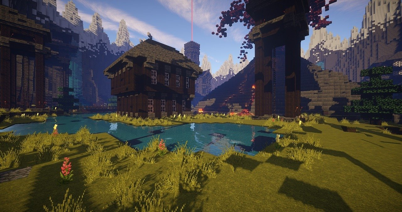 An image from the popular video game Minecraft