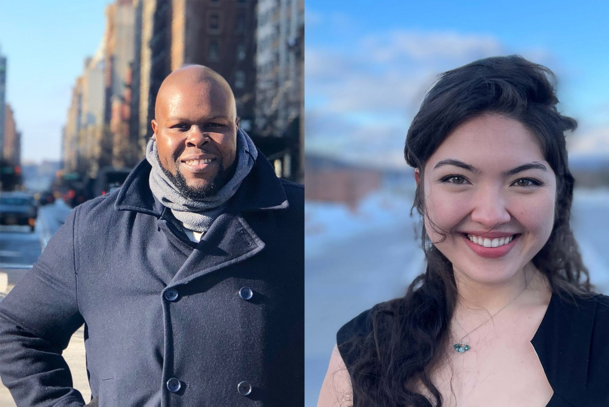 Masters of Music in Opera students Tshombe Selby and Kelsey Watts