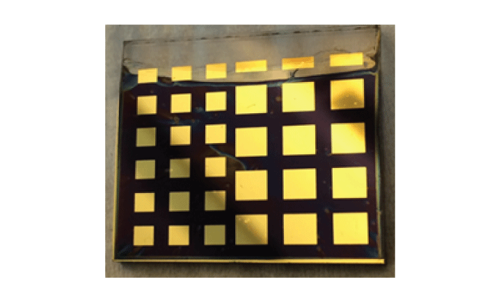 An example of a perovskite solar cell that could eventually replace silicon solar cells.