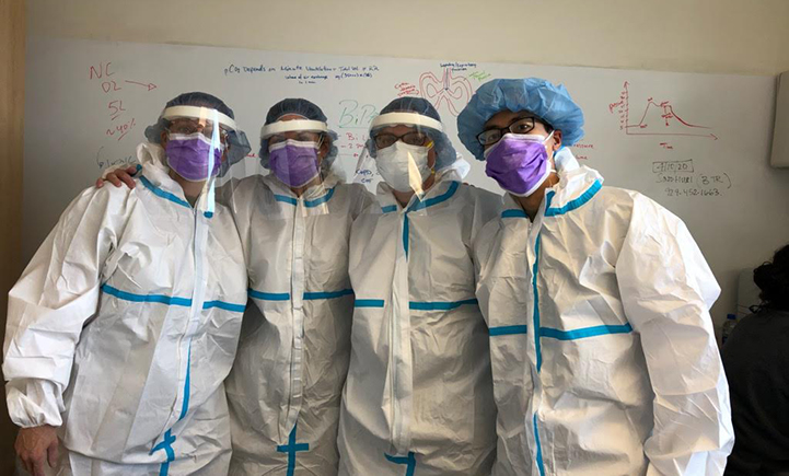 PhD candidate Tak Yan, shown here on the far right with his colleagues at Lincoln Hospital in New York City, is also a member of the Defense Support of Civil Authorities, part of the Army Reserve. As he says,