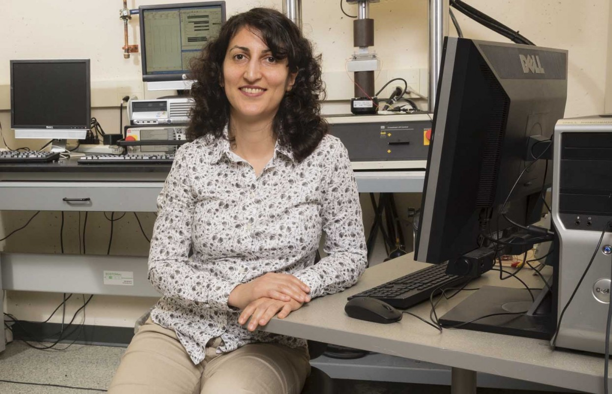 """Shahrzad """"Sherry"""" Towfighian is an associate professor of mechanical engineering at Binghamton's Thomas J. Watson School of Engineering and Applied Science."""