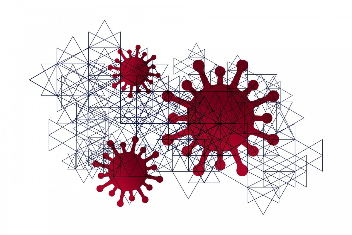 A graphical image of the coronavirus