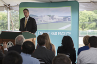 Lt. Gov. Robert Duffy at Smart Energy Research and Development Facility groundbreaking.