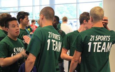 Student-athletes return to campus, begin competition