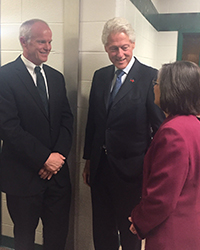 Harvey Stenger with Bill Clinton and Donna Lupardo