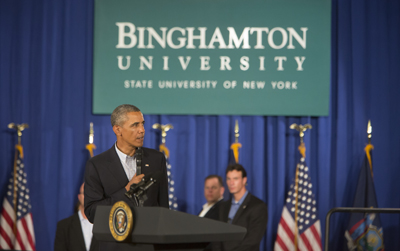 President Barack Obama's visit to campus