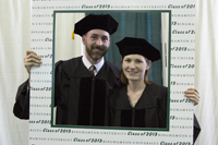 Photo frame shot at Commencement