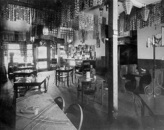 Interior of the parkview restaurant