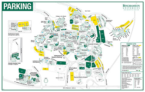 Binghamton Campus Map Transportation and Parking Services | Binghamton University