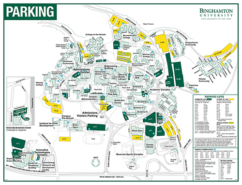 Parking Transportation and Parking Services Binghamton University – Map University