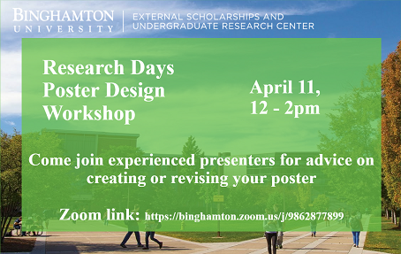 Binghamton Research Days Poster Session Workshop