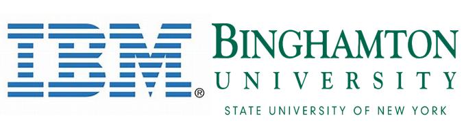 IBM and Binghamton University logos